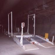 Retourneur de camion installé dans une mine