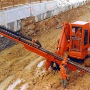 Machine modifiée pour les travaux publics