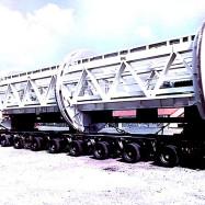 Train unloader pour les travaux du tunnel sous la Manche
